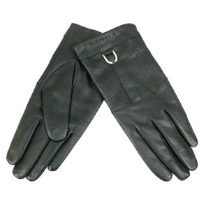 Free Breath Holes Design Calfskin Leather Gloves