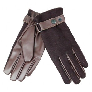 Fashion Winter Fleece Lining Nappa Leather Gloves