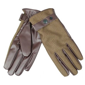 Flexible Men's Two Tone Leather Driving Gloves
