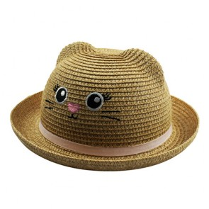 Custom Animal Bowler Paper Sun  Baby Kids Straw Hats