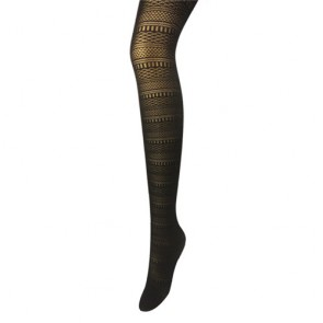 Women's Black Hollow Out Stretchy Pantyhose