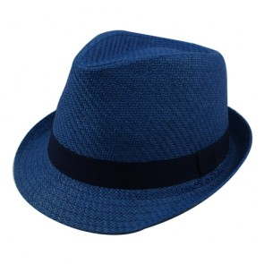 Men's Short Brim Trilby Paper Straw Hat