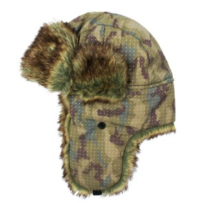 Custom Winter Unisex Trapper Hats in Camouflage Color