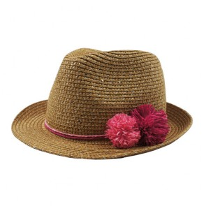Custom Kid's Fashion Summer Paper Straw Fedora Hats