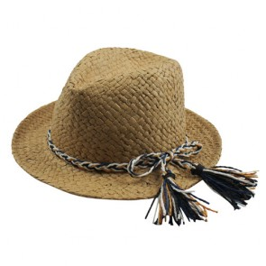 Unisex Straw Hat Fedora with Bowknot