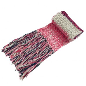 Custom Winter Fringed Knitted Scarf